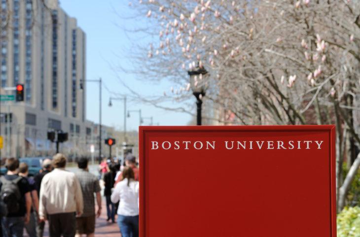 Boston University Basketball Players Wear Masks During Game